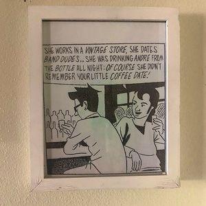"""8x10"""" band guys framed comic art"""